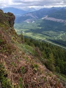 The Kloshe Nanitch lookout offers bird's-eye views soaring the length of the Sol Duc River Valley and beyond. Kloshe Nanitch Trail, May 19, 2014.