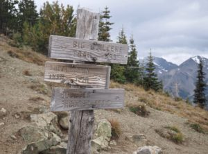 A worthy destination itself, Marmot Pass is also a crossroads for trails to Boulder Camp, Tubal Cain mine, and other points between and beyond. Upper Big Quilcene Trail, September 22, 2016.